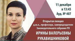 Открытая лекция И.В. Рукавишниковой 11.12.2017